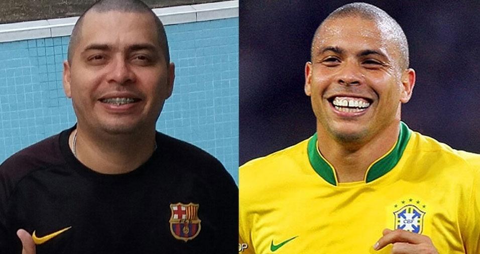 """""""Dizem que eu me pareço com o Ronaldo fenômeno!!!"""", confessa Charles André Santos de Souza, de Manaus (AM)"""