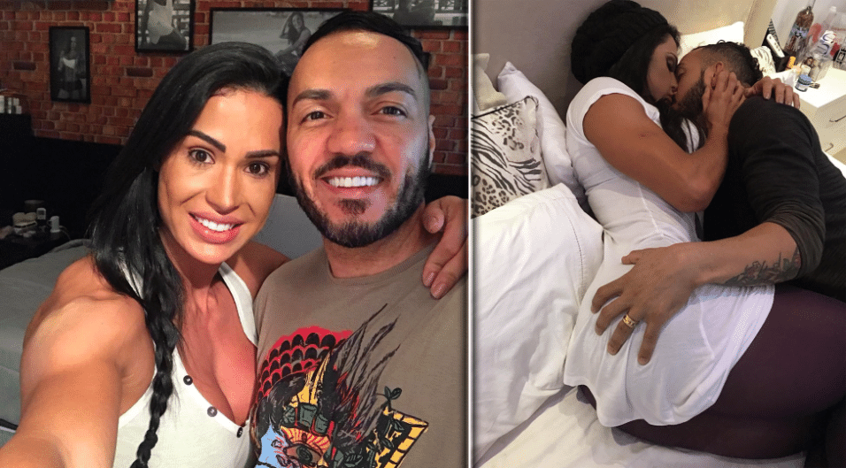 "22.mar.2017 - Gracyanne Barbosa revelou nos bastidores de seu ensaio para o ""Paparazzo"" que ela e o marido, o cantor Belo, fazem sexo todos os dias após 10 anos de casamento"