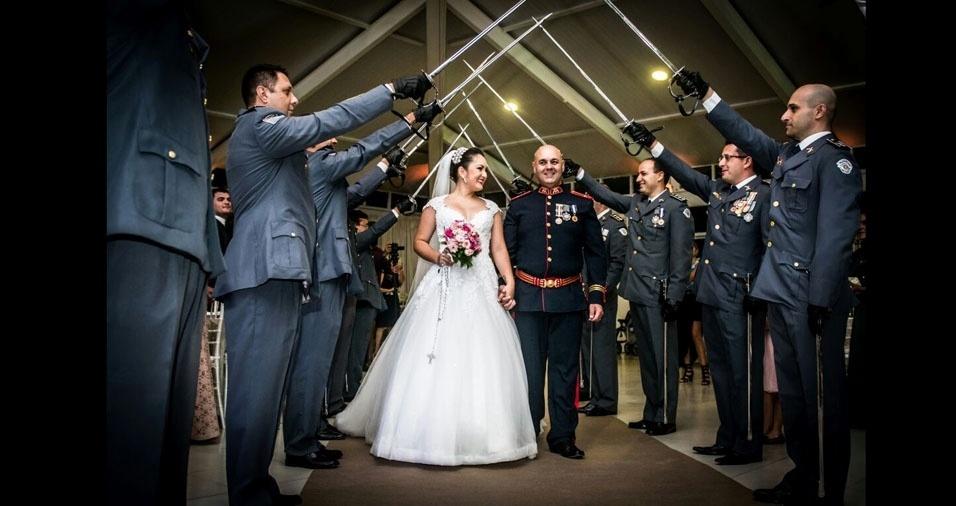 Emerson Luciano de Almeida Drague e Cristiane se casaram em 18 de março de 2017, em Itu (SP)