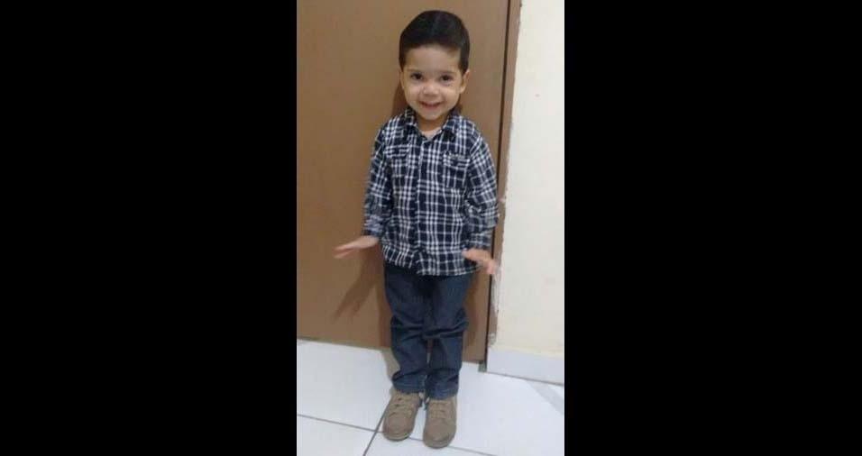 Rosenildo, de Patos (PB), enviou foto do filho Phelipe Gabriel, de três anos
