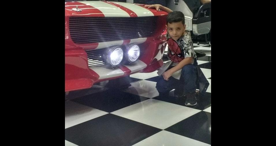 Chrystian, de sete anos, é filho do Alex Sandro de Oliveira, de Campinas (SP)