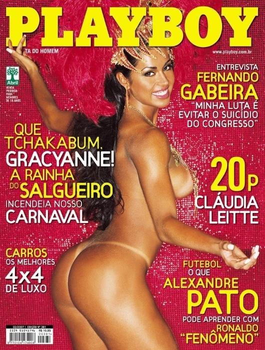 Fevereiro.2007 - Gracyanne Barbosa aparece em seu primeiro ensaio de nudez, feito