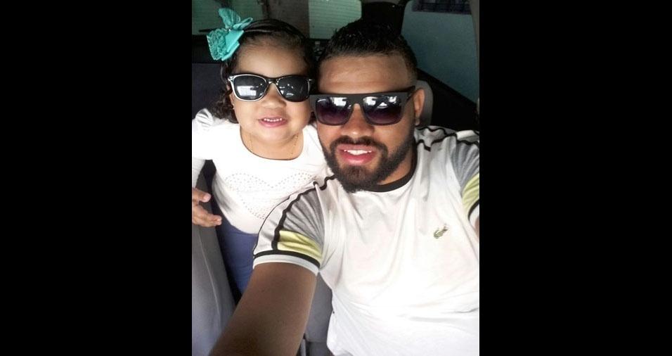 Wenderson com a filha Nicoly, de São Paulo (SP)
