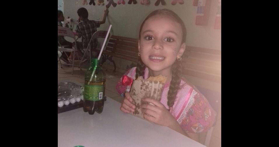 Cleiton Marques, de Sumaré (SP), mandou foto da filha Rafaela, de cinco anos