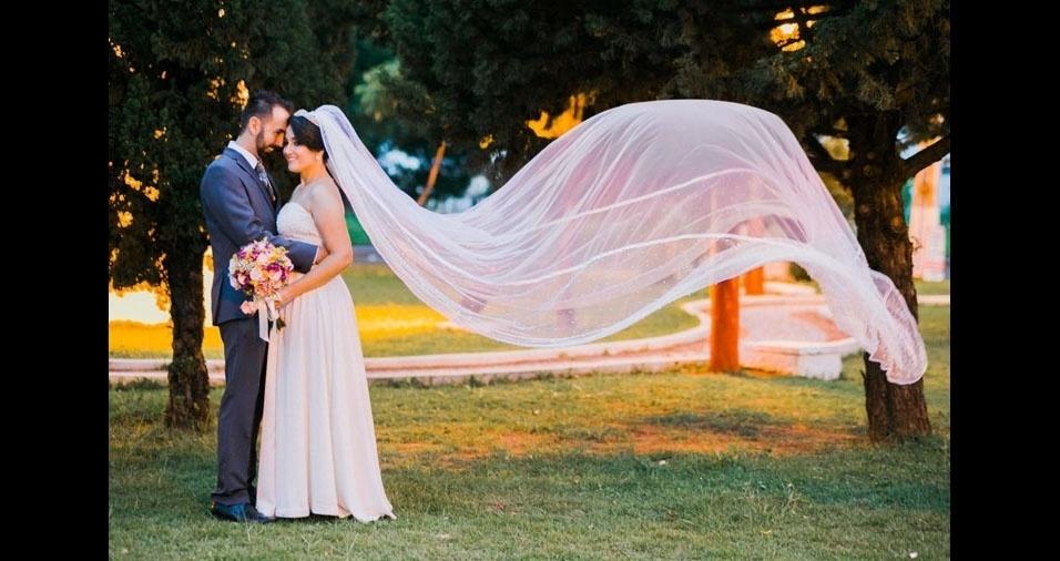 Gustavo Sanches e Tamiris de Moura Rodrigues Sanches se casaram em Tupã (SP), no dia 20 de janeiro de 2018