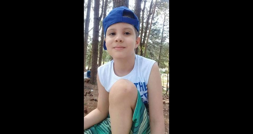 A mãe Francy enviou foto do filho João Victor