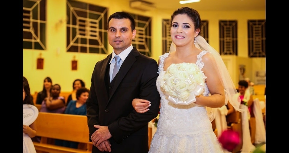 Adriana Rodrigues e Guilherme casaram-se no dia 7 de novembro de 2015, em Porto Alegre (RS)