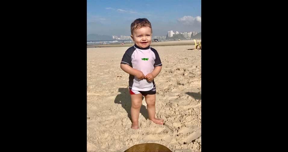 Manoel, de Guarulhos (SP), enviou a foto do filho Enzo