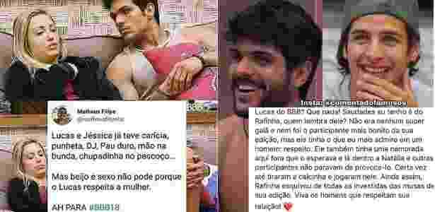 Reprodução/Instagram @meuanjoanaclara e Reprodução/Instagram @comentadofamosos