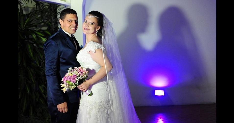 Diego Souza Dantas e Renata Dantas se casaram em 01/11/2017, em Ribeirão Pires (SP)