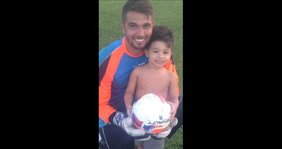 Marcelo e o filho Arthur, de Belém (PA)
