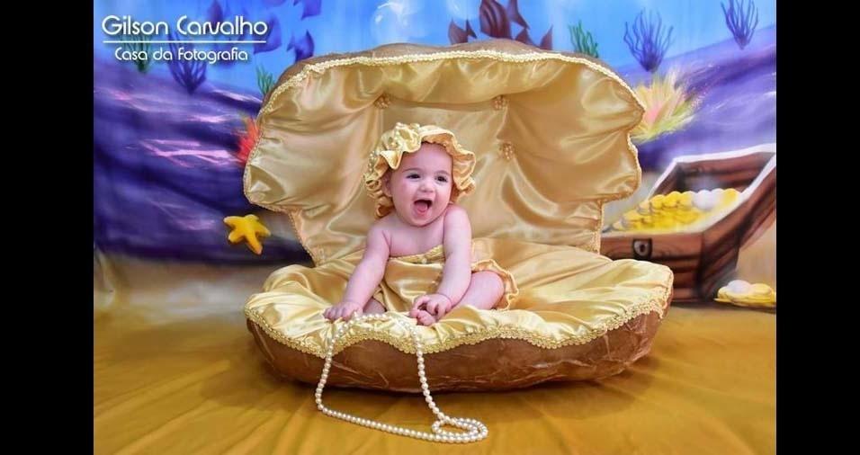 Denise e Rodrigo enviaram foto da filha Lívia, de Nova Independência (SP)
