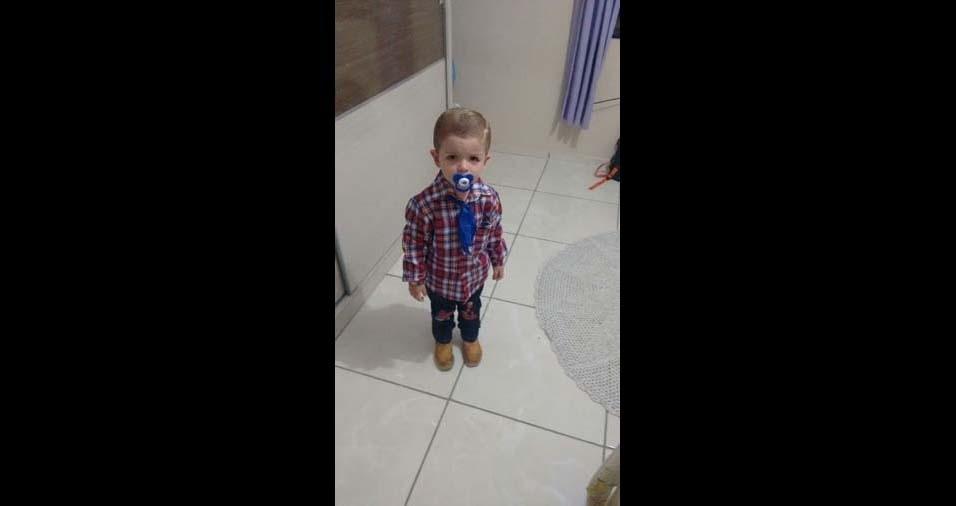 Marlon, de São Sebastião do Paraíso (MG), enviou foto do filho Willian, de três anos
