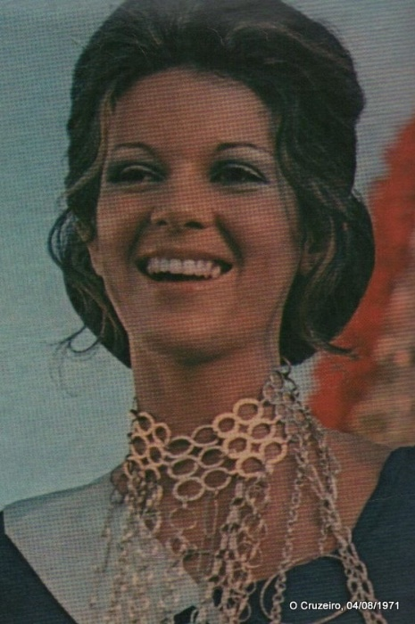 8. Eliana Parreira Guimarães - A Miss Minas Gerais ficou em 5º lugar no Miss Universo de 1971