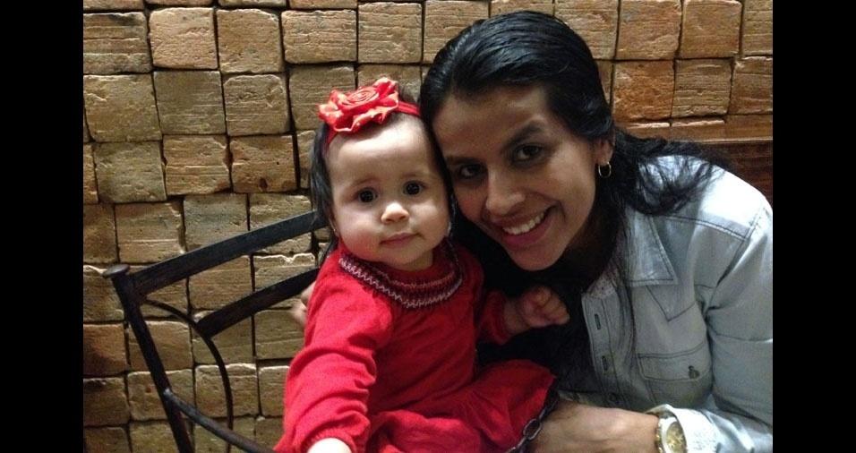 Mamãe Cida e a filha Maitê, de São Paulo (SP)