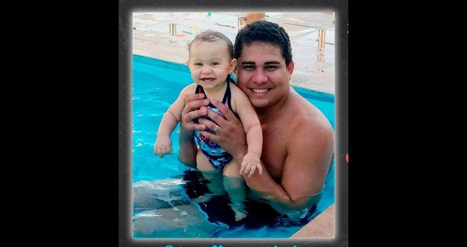 Papai Irlan e sua filha Lunna, de Macapá (AP)