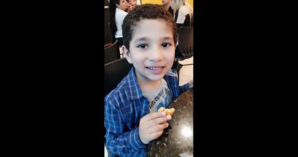 A mãe Nédima enviou foto do filho Ali, de quatro anos, de Porto Alegre (RS)