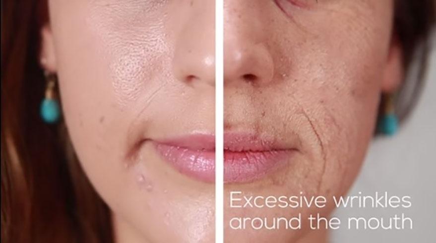 8.set.2015 - No vídeo, a maquiadora transforma os rostos dos voluntários de acordo com as mudanças que a maioria dos fumantes sofrem como, por exemplo, o excesso de rugas ao redor da boca