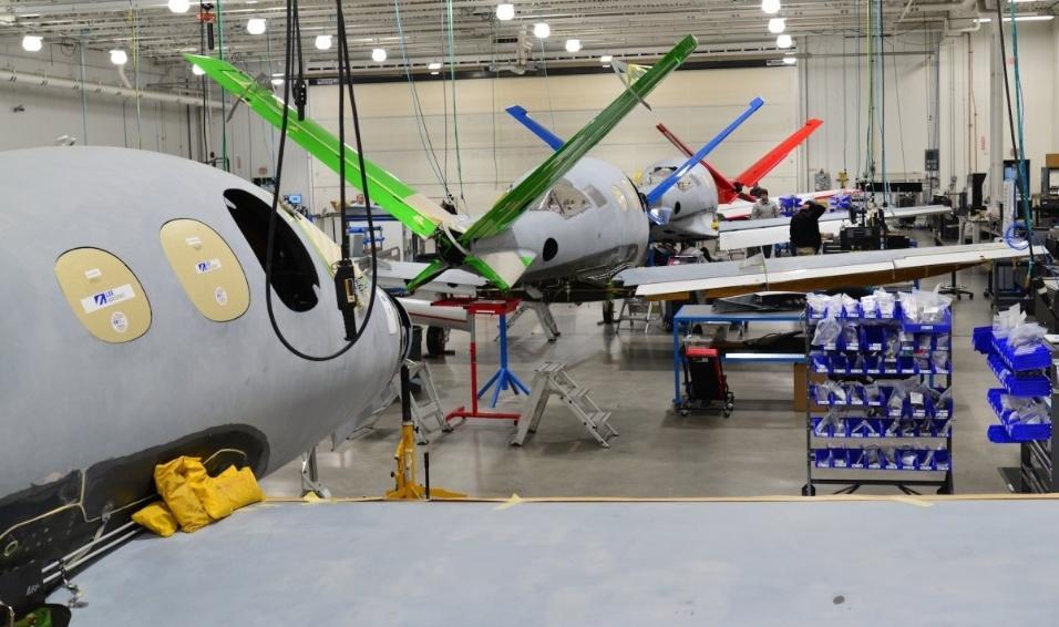 30.mai.2017 - O Cirrus Vision Jet é fabricado pela Cirrus Aircraft em Duluth, no estado norte-americano do Minnesota