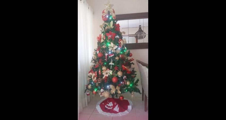 Amanda, de Ribeirão Preto (SP), enviou foto de sua árvore de Natal