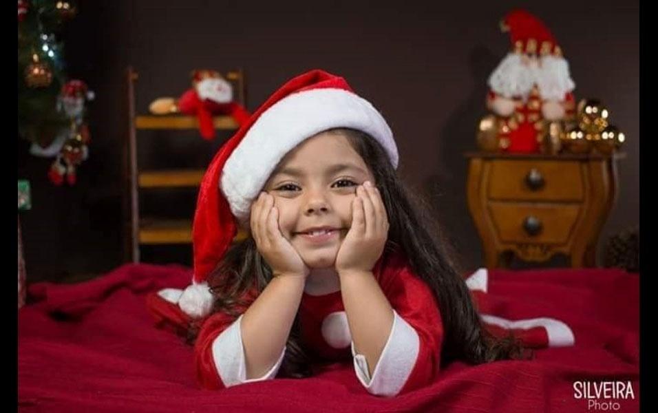 Juliana Firmino, de Mogi das Cruzes (SP), mandou foto da filha Sophia, cinco anos
