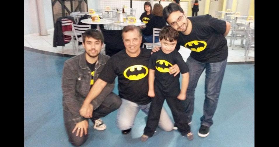 Eloy Marum com os filhos Junior, Raphael e Matheus