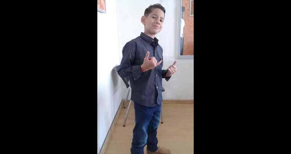 Cristiane enviou a foto do filho João Gabriel de dez anos, de Ceialandia (DF)