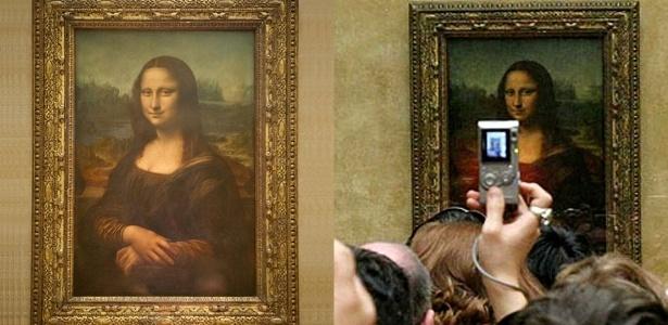 Mona Lisa no Museu do Louvre, em Paris