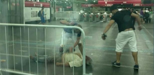 O ambulante Luiz Carlos Ruas foi espancado até a morte por dois homens em uma estação de metrô em São Paulo