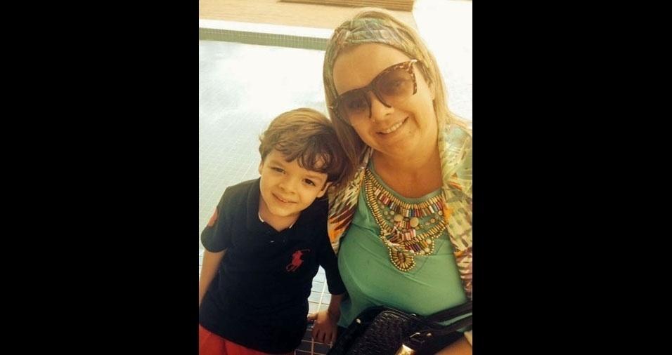 Andreia com o filho Rafael, de Pouso Alegre (MG)