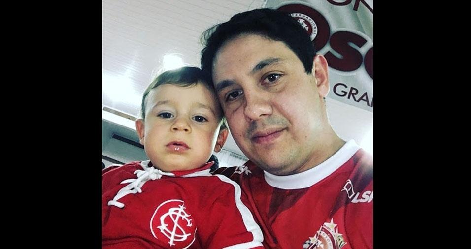 Leandro da Costa Silva e seu filho Matin Braz da Silva