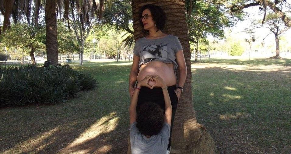 Andréa com o filho, de São Paulo (SP)