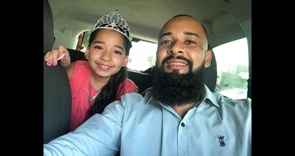 André, de Pindamonhangaba (SP), com a filha Isabeli