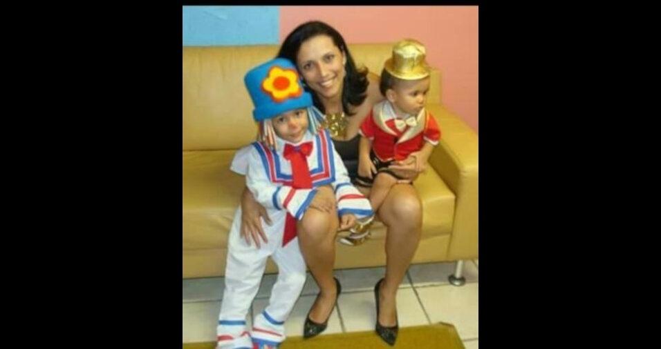 Sonia, de São Paulo (SP), enviou foto com os filhos Gustavo e Guilherme