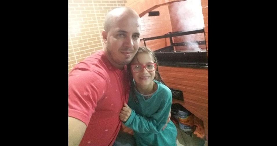 Papai Graziani e sua filha Maria Helisa