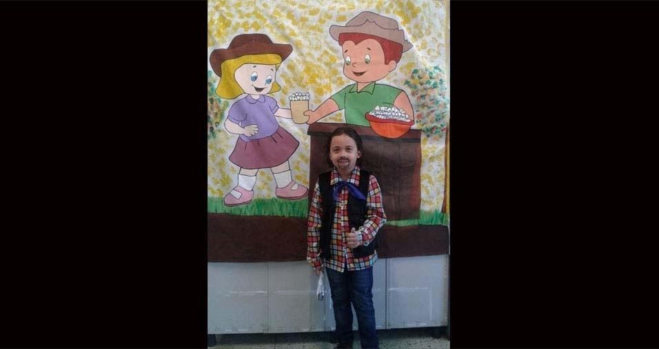 Claudia enviou foto do filho Claudinho