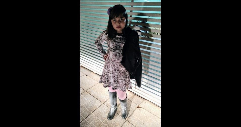 A mãe Lilia, de Jatai (GO), enviou foto da filha Eliza