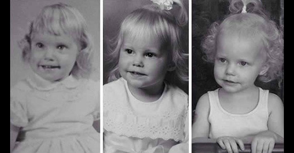 25. Da esquerda para a direita, vovó, mamãe e neta