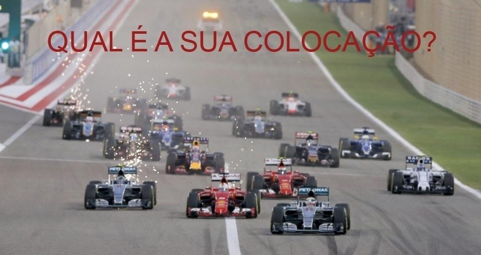 1. Se durante uma corrida de carros, você deixa o segundo colocado pra trás, qual é a sua colocação após a ultrapassagem?