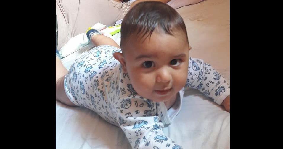 Douglas, de Ribeirão Preto (SP), enviou foto do João Miguel, de cinco meses