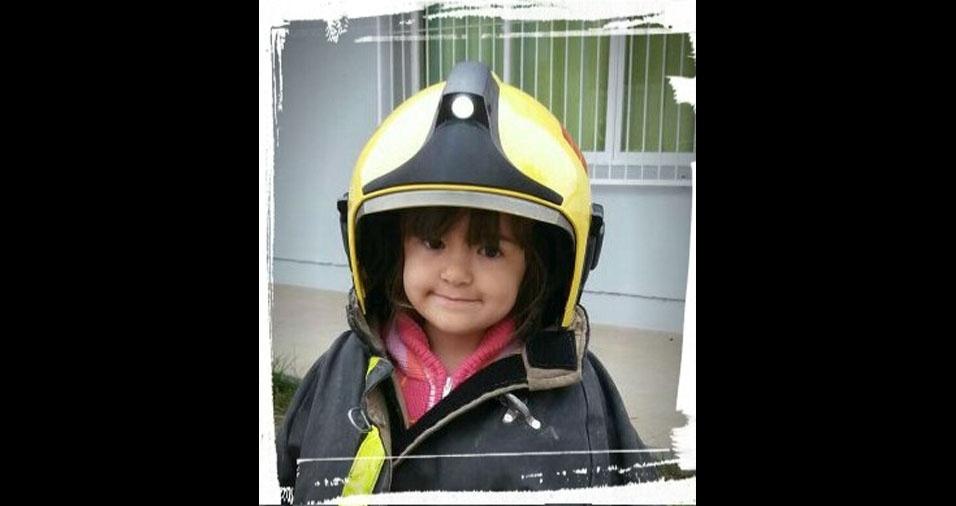 João Henrique e Sandra Regina enviaram foto da filha Katherine, de cinco anos, de Pelotas (RS)
