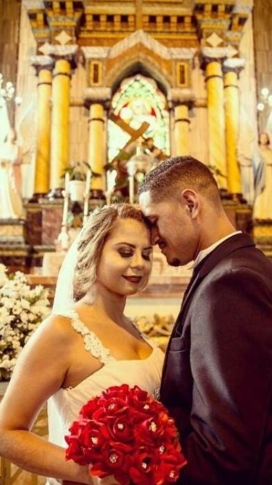 Bartolomeu Bueno e Cristina Klein se casaram no dia 27 de janeiro de 2018, em Vila Velha (ES)