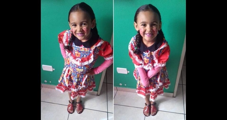 Givaldo de Moura, de Chácara Santa Maria (SP), enviou foto da filha Julia, cinco anos
