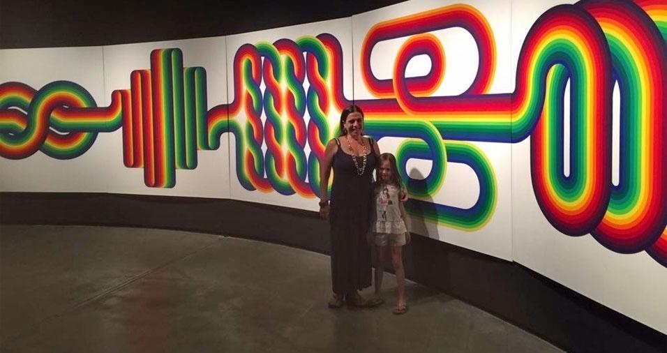 Vera Mercadante Oliva, de São Paulo (SP), com sua netinha mais velha, Milena, de Brasília (DF)