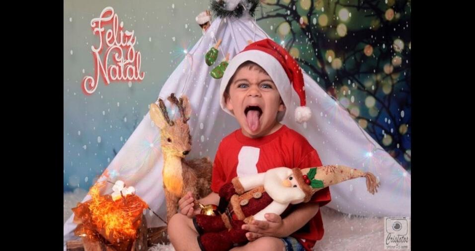 Amanda enviou foto do filho Mateus, de cinco anos