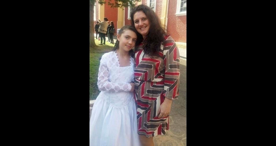 Cristiane Maria com a mamãe Patricia, de Rio Negro (PR)