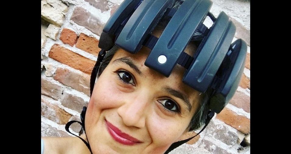 9. Capacete diferentão - Este capacete estilo grua chama bastante a atenção nas ruas