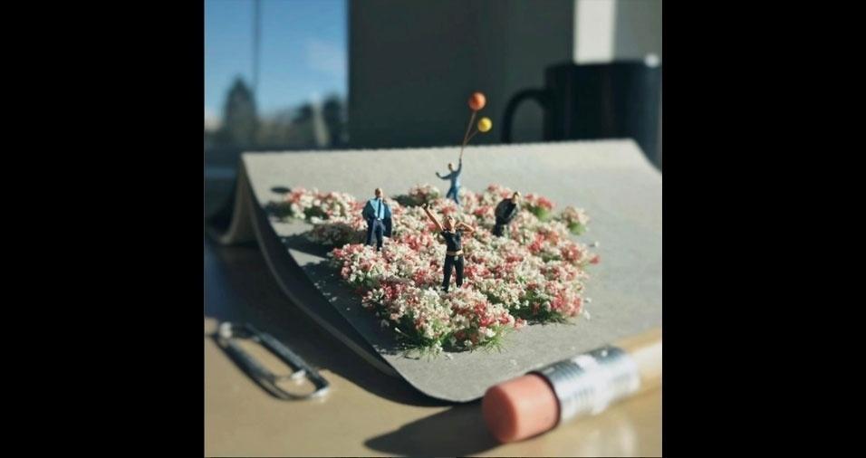 38. Entre as flores