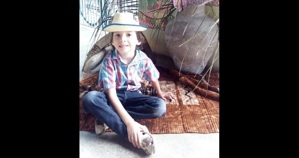 Felício, de Quixeramobim (CE),  é o papai do Miguel, de cinco anos