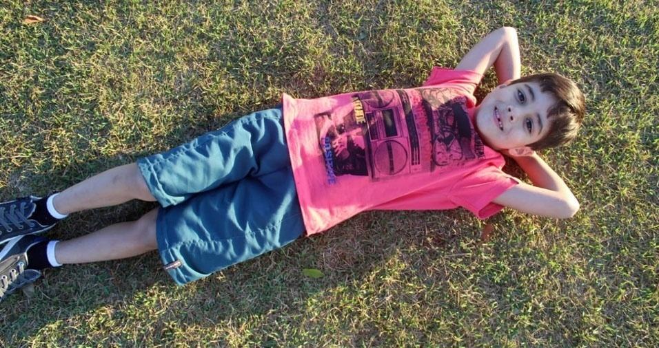 Davi Lucas, de São Paulo (SP), em foto enviada pela mamãe, Cristiane Pereira de Oliveira